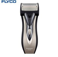 Wholesale Foil Shavers - FLYCO Electric Razor Men's Shaving machine Global Voltage Single individual Floating Foil Head With Pop-up Trimmer shaver FS626