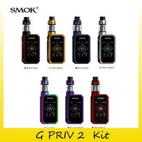 Wholesale Green Screen Wholesale - Authentic SMOK G PRIV 2 Kit With Touch Screen 230w Box Mod For 2.0ml TPD Edition Tank 4.0ml TFV8 X-Baby Atomizers 100% Genuine 2218094