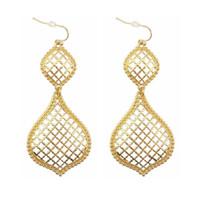 ingrosso orecchini di apertura-Orecchini pendenti in oro con pendenti in oro per orecchini pendenti con ciondolo a forma di gioielli fatti a mano