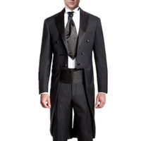 Wholesale Blue Tail Fly - Men's wedding suits swallow-tailed coat prom suits tuxedos fashion black mens wedding suits latest design the grooms tuxedos(jacket+pants)