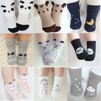 Wholesale Panda Socks - Baby Cotton Socks Toddler Infant Cute Cartoon Short Socks Kids Panda Fox Animal Stockings Children Knee Length Floor Ankle Stockings 07