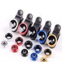 Wholesale Len Clip Eye - Wide Angle Macro Fish Eye Cell Smart Phone Glass Len Android 3 in 1 Universal Clip iphone 7 6s note 5 3 9yz