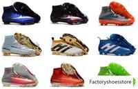 Wholesale Cr White Soccer Shoes - 2017 original men botas de futbol What the Mercurial CR7 soccer shoes high ankle Ronaldo superfly FG VI HERITAGE CR football boots