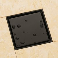 ingrosso bagno in bronzo-Bronzo lucidato ad olio bronzo nero massiccio 100 x 100mm scarico pavimento antiodore per bagno scarico doccia invisibile