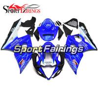 ingrosso k5 kit completo di carenatura-Carene Full Injection per Suzuki GSXR1000 GSX-R1000 K5 05 06 2005 2006 Sportbike Kit plastica ABS per moto carenatura Kit corpo blu