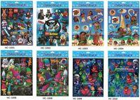 Wholesale Wholesale Kids Toys Books - Cartoon Sticker Decoration Diary Book Scrapbook Planner Moana reward Pattern Children School Reward Wall Desk Scrapbook Toys kids 20x30cm