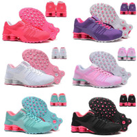 Running sport design online - woman shox deliver NZ R4 top designs for women basketball running dress sneakers sport lady crystal lace flat casual shoes best sale online