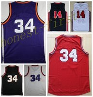 Wholesale Usa Sports Wear - Hot Sale #34 Sports Basketball Jerseys Retro 1992 Dream Team USA #14 Basket ball Wear With Player Name Team Logo Throwback Shirts Uniforms