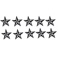Wholesale Wholesale Supply Clothing - 10PCS star badge embroidered patches for clothing iron-on fashion patch applique iron on patch sewing supplies accessories stickers on cloth