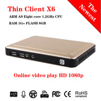 2017 Più recenti Mini PC Computer Thin Client X6 Linux Embedded 1080P 1G RAM + 8G FLASH RDP 8.0 Server OS Supporto Win7 / 8/10 / Linux