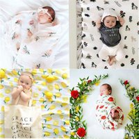 Wholesale spring patchwork bedding - Baby Muslin Blankets Swaddle Swaddling Newborn Bamboo Wrap Infant Parisarc Sleepsacks Bedding Bathing Towels Stroller Nursing Cover