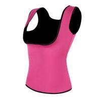 Wholesale Tummy Shaper Blue Corset Girdle - Plus Size 3XL-6XL Women Neoprene Shape wear Waist Trainer Push Up Vest Tummy Belly Girdle Hot Body Shaper Waist Cincher Corset