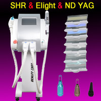 Wholesale Tattoo Hair Removal Machines - SHR hair removal machine elight skin rejuvenation multifunctional equipment q switch nd yag laser tattoo removal portable beauty machine