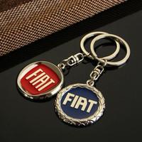 Wholesale Fiat Bravo Cars - For FIAT Car Logo Keychain Key Rings Auto Key Parts Car Emblem Styling For Fiat Punto Bravo Palio Linea Freemont Stilo Grande