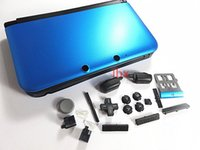 Wholesale Ds Shell Case - for 3 DS XL LL Console Shell Blue Upper Top Shell with Buttom Shell Housing Case Cover Replacement New