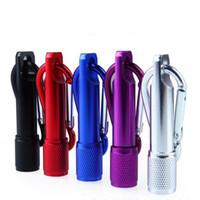 tampa do filtro de ar venda por atacado-Mini Lanterna LED Liga de Alumínio Lanternas Tocha com Mosquetão Anel Chaveiros Presentes de Corrente Chave para Crianças