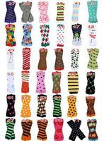 Wholesale Kids Colorful Cotton Socks - Baby Leg Warmer kids Chevron Leg Warmers infant colorful socks Legging Tights Leg Warmers 60 pairs