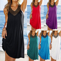 Wholesale Rhinestone Covered Mini Dress - Beach Swimsuit Cover Up Bathing Suit Swim Ups Summer Dress Coverup V-Neck Hot Drilling Wrinkle Long Kaftan Beach Towel