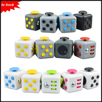 Wholesale Popular Stocks - In Stock hot popular 15 Colors Popular Decompression Toy Fidget cube the world's first American decompression anxiety Toys via DHL