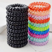 Hair Jewelry Headdress hair band Mulheres Girl Hair Ring Rope Elastic Candy Color Telephone Wire Mix Order Atacado
