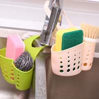 Wholesale Sink Faucet Dish - Kitchen Sink Shelving Bag Dish Cloths Rack Suction Sponge Hanging Drain Holder Faucet Multipurpose Storage Rack