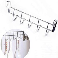 Wholesale- New Arrive Bathroom Kitchen Hat Towel Hanger Over Door Hanging Rack Holder Five Hooks JJ2834