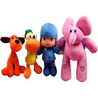 ingrosso doni pocoyo-4pcs Set Pocoyo Elly Pato POCOYO Loula peluche animali giocattoli 14-30 cm Buoni regali di festa per i bambini