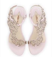flat rhinestone casamento sandálias venda por atacado-2017 mulheres sexy ouro strass sandália sandálias gladiador sandálias de salto plana sapatos de casamento sapatos de festa glitter sapato borboleta sapatos