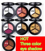 Wholesale Nude Naked - 2017 Smoky Cosmetic Set 3 Colors Professional Natural Matte Eyeshadow Makeup Eye Shadow Palette Naked Nude Eye Shadow Glitter