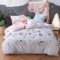 dulce pareja de dibujos animados baratosropa de cama romntica algodn de algodn ligero bluepink
