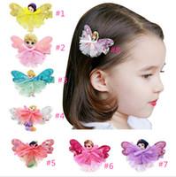 Wholesale Sculptured Bows - 100pcs Princess Hair Bow - Toddler Hair Bow Princess Hair Bow Clips Ribbon Sculpture Girl Accessory