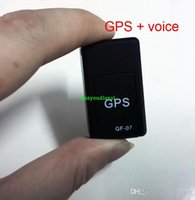 Wholesale Gps Tracker Car Realtime - Realtime Car GPS Tracker GSM GPRS GPS Car Navigation Vehicle Tracker Quad Band Tracking GF-07 & Voice Callback Separate recordings