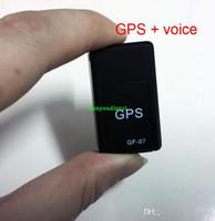 Wholesale Quad Band Gps Tracking - Realtime Car GPS Tracker GSM GPRS GPS Car Navigation Vehicle Tracker Quad Band Tracking GF-07 & Voice Callback Separate recordings