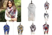 Fashion cashmere stoles - Women s Plaid Scarf Cozy Oversized Tartan Tassel Scarf Fashion Wrap Grid Shawl Check Pashmina Cashmere Lattice Neck Stole Blanket L001