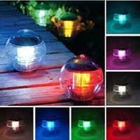 Wholesale Solar Garden Pond Floating - New Waterproof Pool Solar Power RGB LED Floating Light Lamp 60mA Outdoor Garden Pond Landscape Color Changing Night Lights