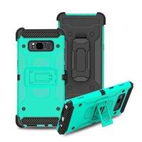 Wholesale zte dual - For LG V30 2 In 1 Dual Layer Protection Hybrid TPU PC Tough Armor With Holster Clip Cover For iPhone X 7 6 6S Plus ZTE N9131 N9132 Opp Bag