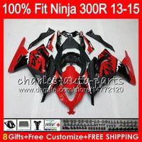 Wholesale Kawasaki Ninja Body - 8Gifts 23Colors Body For KAWASAKI NINJA ZX300R 13 14 15 EX 300 17HM19 ZX-300R ZX 300R EX300 2013 2014 2015 Injection Fairing Graffiti black