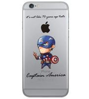 Wholesale Hulk Iphone Cases - Transparent Phone Case For Apple iphone 7 7s plus 6 6s plus 5 5s se samsung S8 S7 S6 Batman Spiderman Ironman Captain America Hulk Avengers