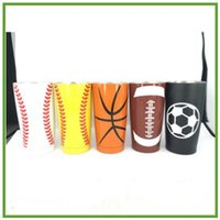 Wholesale Cup Insulation Design - 5 Designs 20oz Baseball Basketball Cup Softball Tumbler Mugs Stainless Steel Vacuum Insulation Cup Beer Mugs Travel Cups CCA7119 30pcs