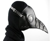 Wholesale Doctor Retro - Party Plague Doctor Bird Long Nose Cosplay Fancy Mask Gothic Steampunk Retro Rock Leather