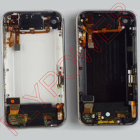 Wholesale Iphone 3g Back Cover Housing - For iPhone 3G 3GS Back Cover Housing with Front Bezel Chrome Frame and flex full set Assembly By Free Shipping