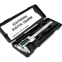 Wholesale Vernier Caliper Box - High Quality 150mm 6-inch hardened Stainless Steel Electronic Digital Vernier Caliper Micrometer With Box E3372 T150.14