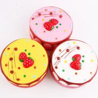 Wholesale Mousse Cake - New Style Kawaii 13cm Slow Rising Squishy Jumbo Strawberry Mousse Round Cream Cake Toy Cake Kids Gift Free Ship