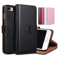 telefones i6 mais venda por atacado-Para iphone 6 7 plus real carteira de couro genuíno suporte do cartão tampa da caixa do telefone para iphone6 i6 6 6 6 mais