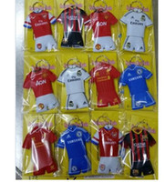 Wholesale Key Chain Football - wholesale soccer fans mobile chain football club polo shirt key chain creative small gift mixedlot