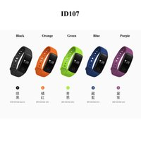 Wholesale Call Id Bluetooth - ID107 ID 107 Smart Wristband Bluetooth Smart Bracelet smart band Step Counter Band for iphone samsung PK Fitbit TW64 wristband