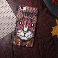 Wholesale Iphone Back Covers Unique - Fluorescence Noctilucent Design Case Unique Animal Sublimation Printing Case for Iphone 6 PC Hard phone back cover for iphone 7