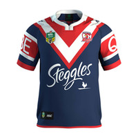 Wholesale Spider Man Top - 2017 Sydney Roosters rugby jerseys men 9S rugby shirts Spider Man jerseys home jerseys top quality Roosters shirts size S-3XL