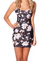 Wholesale 335 Natural - Wholesale- FASHION X-335 2015 New Spring women digital printed Cherry Blossom Black Dress