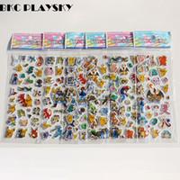 Wholesale Sticker Foam Sheets - 9 Sheets set Foam cartoon anime 3D stickers Toy Pikachu Fashion Gift For Children Baby Kids Toy